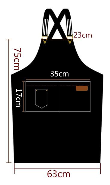 防水皮全身圍裙尺寸